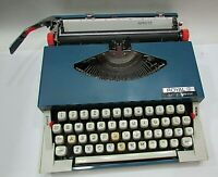 Vintage 1960's Japan Royal Sprite Portable Manual Blue Typewriter FREE S/H
