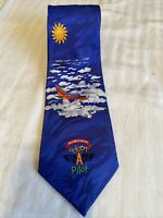 """Southwest Airlines """"Adopt A Pilot"""" Necktie Zanzara 100% Silk Designed by Student"""