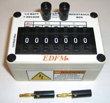 RESISTANCE DECADE SUBSTITUTION BOX 1/4 (0.25) WATT With 2 BANANA PLUGS