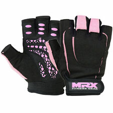 Womens Weight Lifting Gloves MRX Gym Fitness Training Leather Glove Pink Black S