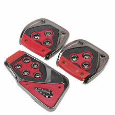 3Pcs Universal Car Racing Sports Pedals Brake Clutch Pad Cover Non-Slip Footrest