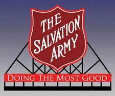 O/HO SALVATION ARMY Animated Train Neon BB Sign Miller Engineering MLR6281