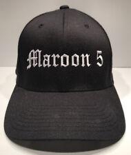 Maroon 5 Band Concert Collectible Baseball Hat Cap Black L/Xl