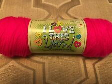 I Love This Yarn! by Hobby Lobby Pink Neon 100% Acrylic