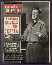 SORRISI 39/1958 TOGLIANI RONDINELLA PAT BOONE EDITH PIAF FESTIVAL DI ZURIGO