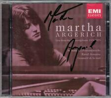 Martha Argerich signed Schumann imagination morceaux Ravel Gaspard de la nuit Sonatine