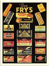 More details for metal sign 805 frys chocolates 1930s a3 16x12 aluminium
