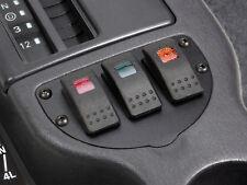 Jeep Cherokee XJ 97-01 12 Volt 20 Amp Carling Three Rocker Switch Panel B/O