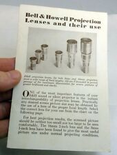 Bell & Howell Projection Lenses and their Use Brochure (EN) English 1952 B&H