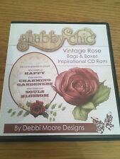 Debbi Moore Designs Shabby Chic Vintage Rose Bags & Boxes CD-ROM  Paper Craft