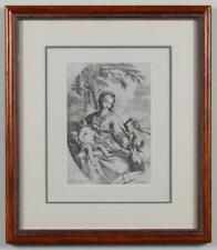 "Carlo Maratta ""Mystic Marriage of St. Catherine"" Etching Print 17th Century"