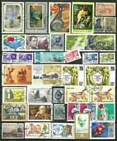RUSSIA USSR Stamps and Cut Squares Lot of 82