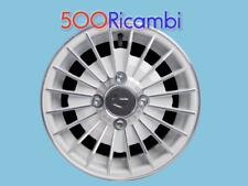 FIAT 500 F/L/R 126 KIT 4 CERCHI IN LEGA BIANCHI DIAMANTATI RUOTE 12 ATTACCO 4X98