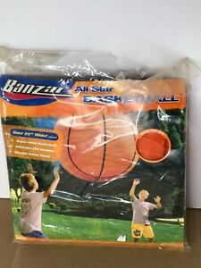 """Vintage Banzai All Star Super Sized Inflatable Basketball 22"""" Wide Fabric Cover"""