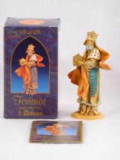 """Fontanini Christmas Nativity Figure - Melchior - 5"""" Scale - Box and Booklet"""