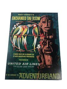 "Walt Disney Enchanted Tiki Room AdventureLand Poster Reprint 8"" x 12 """