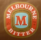 OLD AUSTRALIAN BEER LABEL, 1980s MELBOURNE BITTER CUB, 750 ML TYPE 6