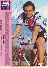 CYCLISME carte cycliste PIERRE BAZZO équipe COOP MERCIER MAVIC 1983 signée