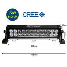 13 Inch 6000K Off Road 72W CREE LED Fog Lamp Work Light Bar SUV Jeep 4X4 DRL