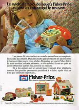 PUBLICITE ADVERTISING 024   1977   FISHER-PRICE   jeux jouets