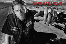 Sons of Anarchy Jackson Bike Hog open road black and white protagonist New