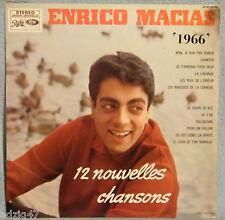 """♫  33 T VINYL ENRICO MACIAS """" 1966 """"  12 NOUVELLES CHANSONS ♫"""
