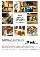 PUBLICITE  1996   MIELE   meubles & ustensils de cuisine