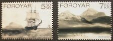 Old lithographs stamps, Faroe Islands, ship, scenery, 2007, 2 stamp set, MNH