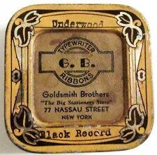 Goldsmith Bros New York City Stationers Typewriter Ribbon Tin For Underwood