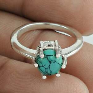 Solid 925 Sterling Silver Turquoise Gemstone Ring handmade Ring Women Ring F1