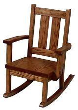 Amish Kids Toddler Rocking Chair Mission Arts & Crafts Solid Oak