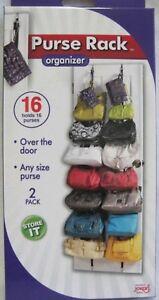 2 pack Adjustable Over the Door Purse Hat Cap Hand Bag Rack Organizer JOKARI