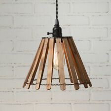 Country new Slatted wood Hanging light / Nice