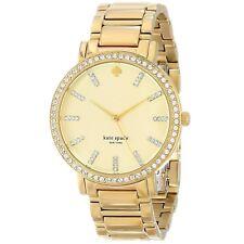 KATE SPADE Womens 1YRU0358 Gramercy Grand Pave Bezel Gold 38mm Watch 130855