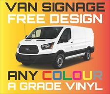VAN CAR VEHICLE GRAPHICS SIGN WRITING KIT DECALS STICKERS CUSTOM LETTERING VINYL