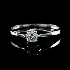 Engagement Ring .925 Sterling Womens Day Simulated Diamond Solitaire