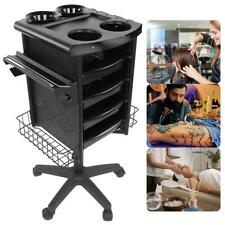 Beauty Salon Rolling Trolley Movable Hairdressing Barber Cart Tool Holders Stand