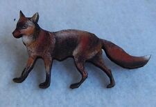Fox Brooch or Scarf Pin Accessories Jewelry Fashion Accessories Wood New Red