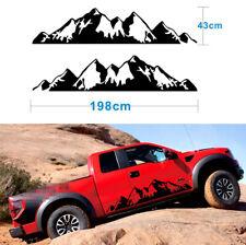 2Pcs Off Road Auto Pickup Side Body Dekoration Mountain Graphics Aufkleber DIY