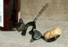 Bar Wine set: cat metal corkscrew & cork holder Bosse