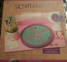 NEW Craftabelle Pinboard Round Bulletin Board Wood Fabric DIY Craft Kit for Kids