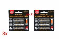 FUJITSU 2550mAh AA NiMH Rechargeable Batteries 4,8,12,16,20 pcs Precharge Sanyo