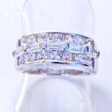Echte Edelstein-Ringe im Cluster-Stil aus Sterlingsilber mit Baguette