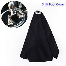 Universal Car Black Stitch PVC Leather Manual Gear Shifter Shift Knob Boot Cover