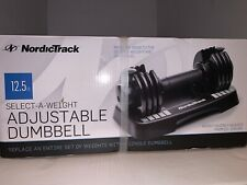 NordicTrack Select-A-Weight Adjustable Dumbbell Single with Storage Tray 12.5lb