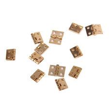 12pcs Mini Metal Hinge with Screws for 1/12 Dollhouse Miniature Furniture ED