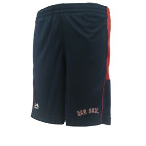 Boston Red Sox Official MLB Majestic Cool Base Youth & Kids Size Athletic Shorts