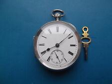 Solid Silver Fusee Pocket Watch Circa 1884