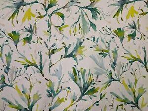 Voyage Seaweed Kelpie, Watercolour printed cotton Fabric New **5.8m PIECE**