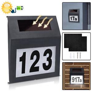 Solar Hausnummernleuchte Hausnummer Beleuchtung Beleuchtet Edelstahl mit LED TOP